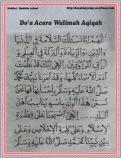 Do'a acra walimah aqiqah 01