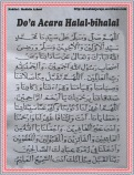 Do'a halal bihalal