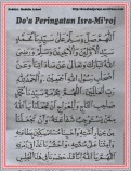 Do'a Peringatan Isra-Mi'roj 01