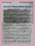 Doa Acara Walimah Takhtim Al-Quran 01